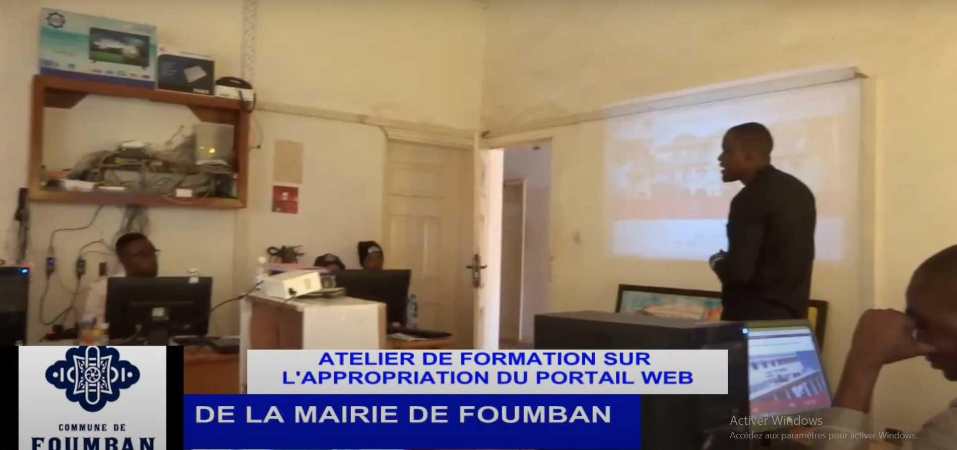 Atelier de Formation sur l'appropriation du Portail Web de la Mairie de Foumban